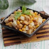 山药玉米粒炒鸡丁